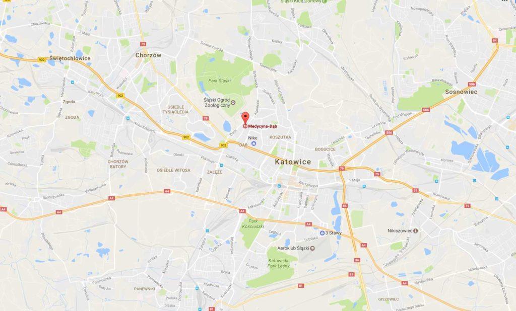 Wazektomia Katowice. Mapa - gdzie w Katowicach wykonać Wazektomię
